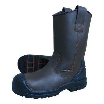 S Fellas by Genuine Grip Mens 6400 Wellington Comp Toe Puncture Resistant Work Boot - Brown-