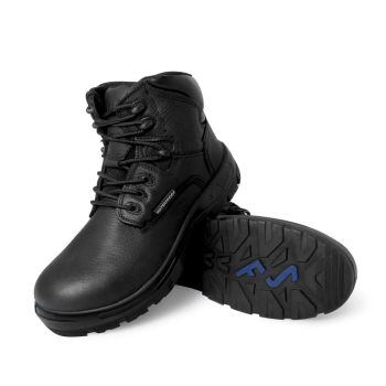 "S Fellas by Genuine Grip Womens #650 Poseidon Waterproof Comp Toe 6"" Hiker Work Boot - Black Wide Width Avail"