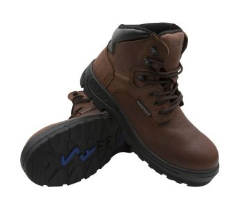 S Fellas by Genuine Grip Womens #651 Poseidon Waterproof Comp Toe Boots - Brown Wide Width Avail-