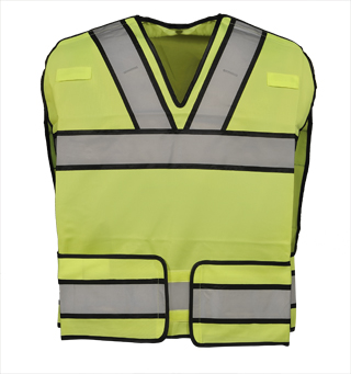 Bright Star Vest w/ Silver Trim - ANSI 207/ANSI 107-Gerber Outerwear
