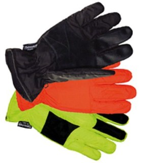 Yellow Waterproof Taslon Gloves with Rubbertec Grip-