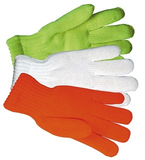 Orange Knit Traffic Gloves