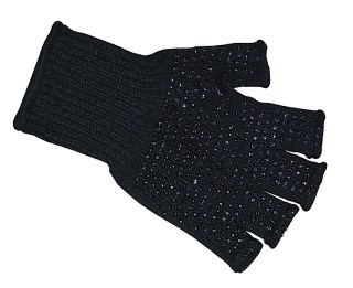 Fingerless with Non-Slip Rubberized Dots Work Knit Glove