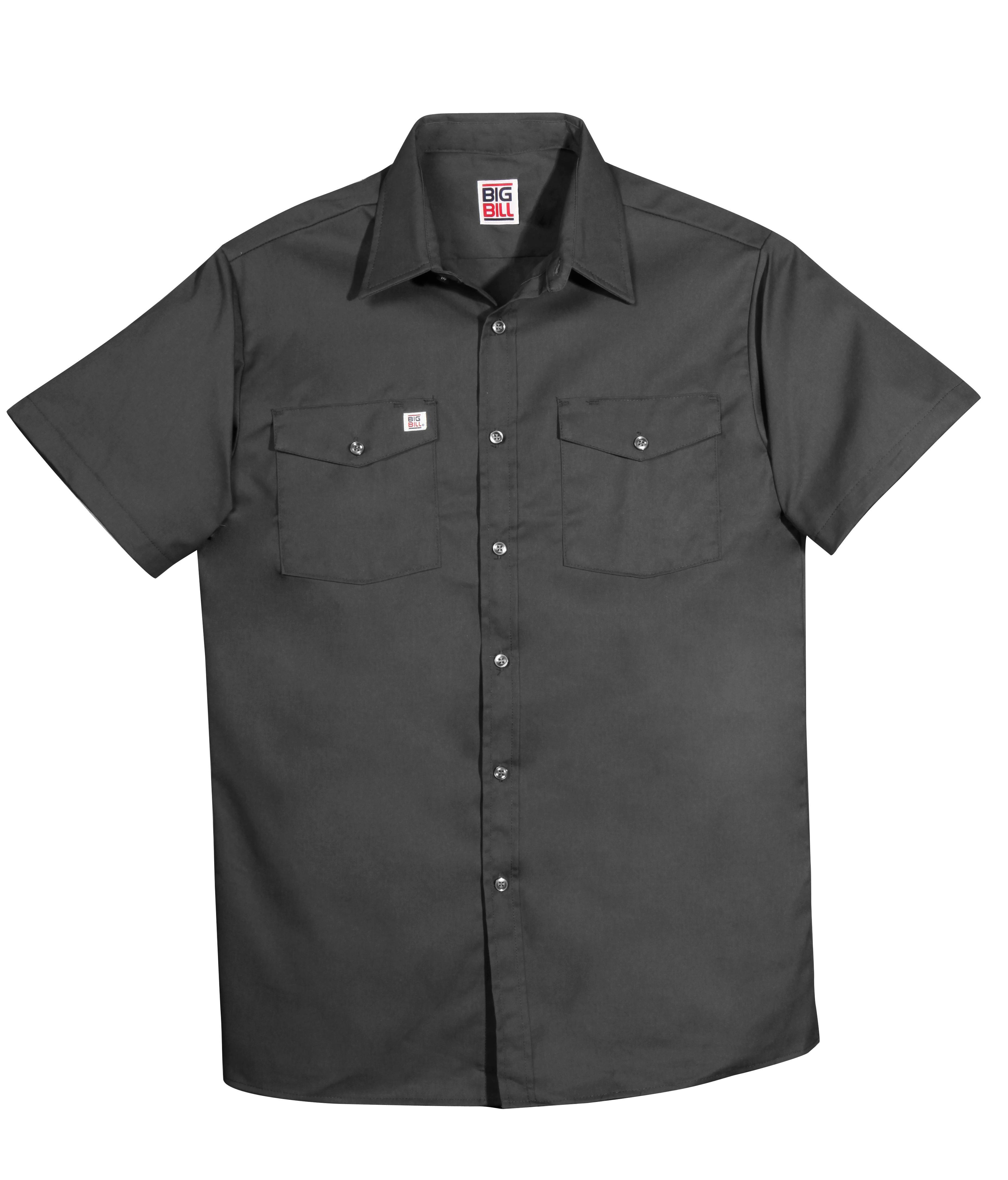 6 oz Twill Button Up Short Sleeve Work Shirt-BIG BILL