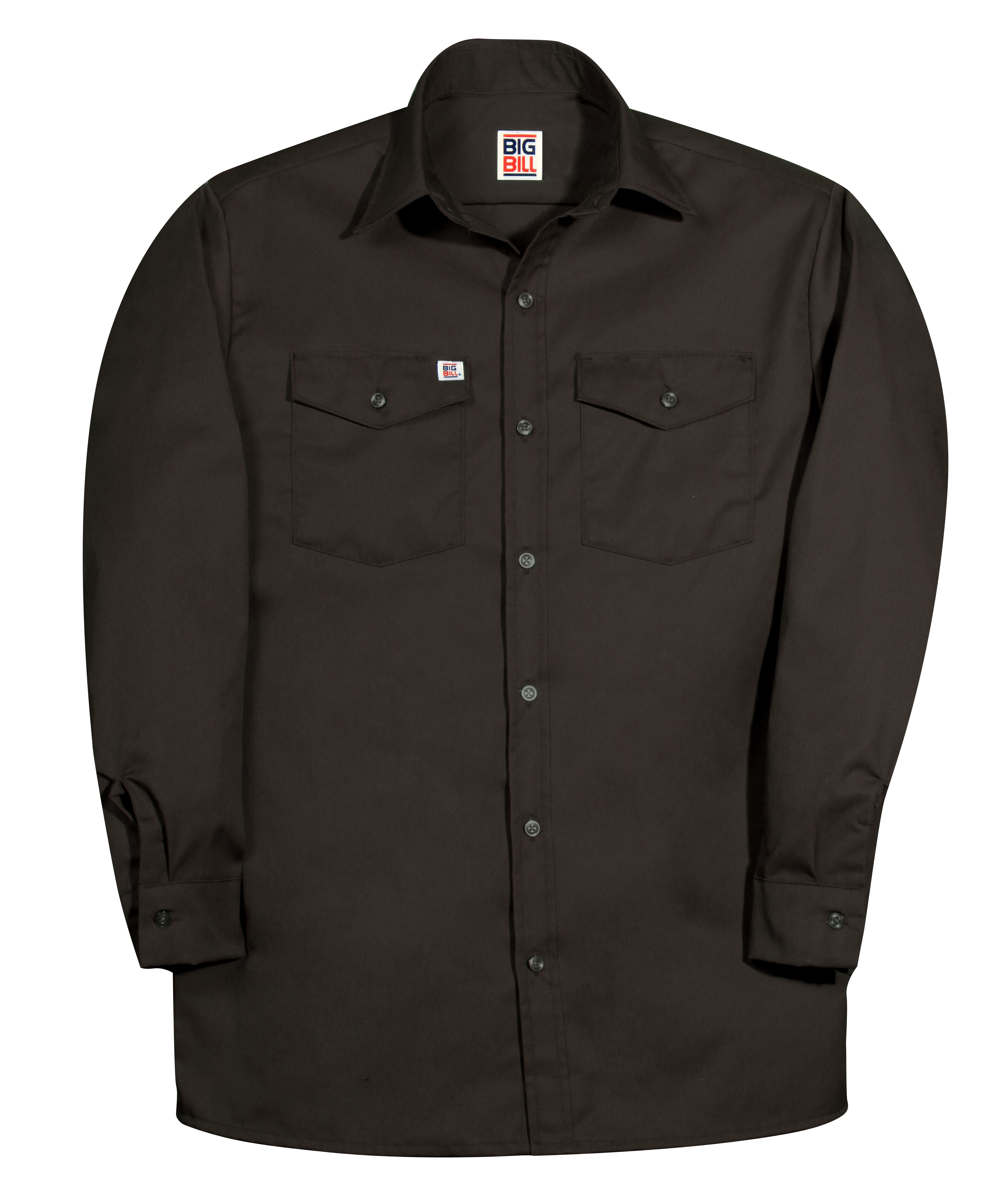 6 oz Twill Button Up Long Sleeve Work Shirt-BIG BILL