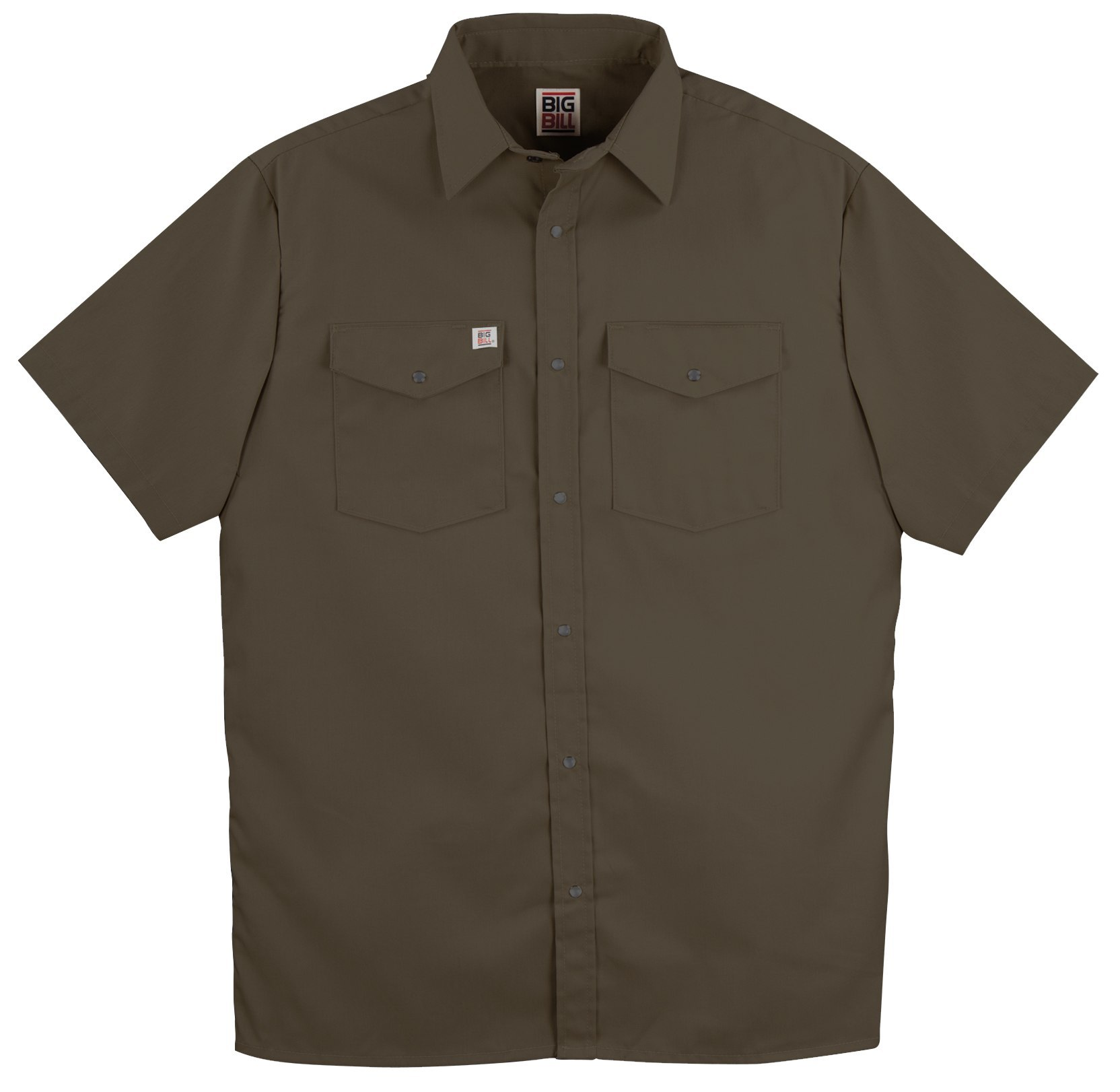 6 oz Twill Snap Closure Short Sleeve Work Shirt-BIG BILL