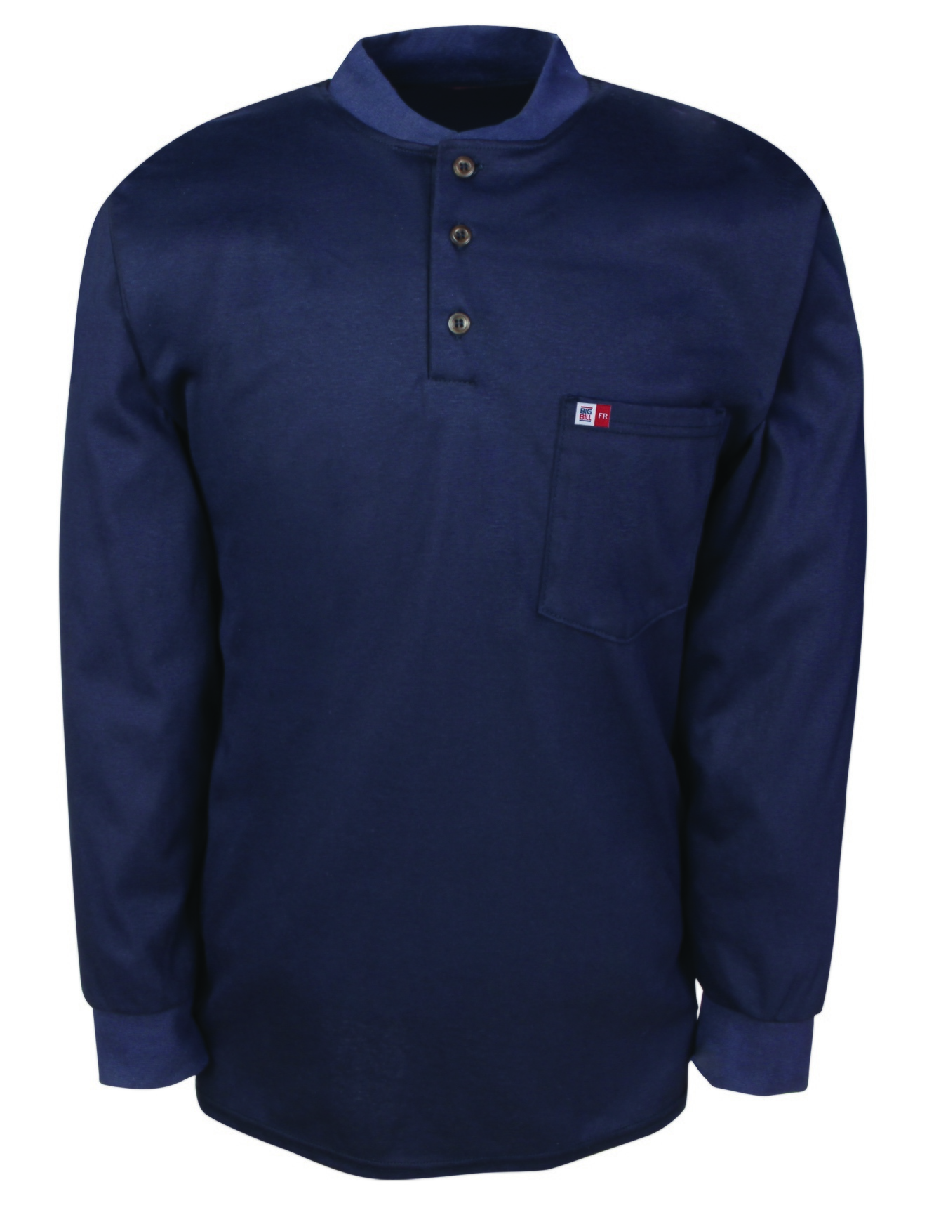 6.5 oz Innovative Textiles Reliant® Henley Long Sleeve-BIG BILL