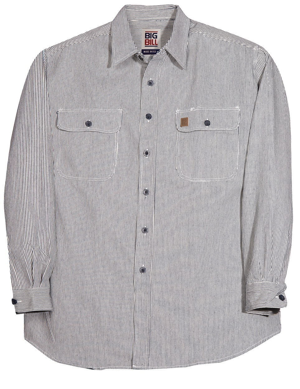 7 oz Button Up Hickory Long Sleeve Shirt-BIG BILL