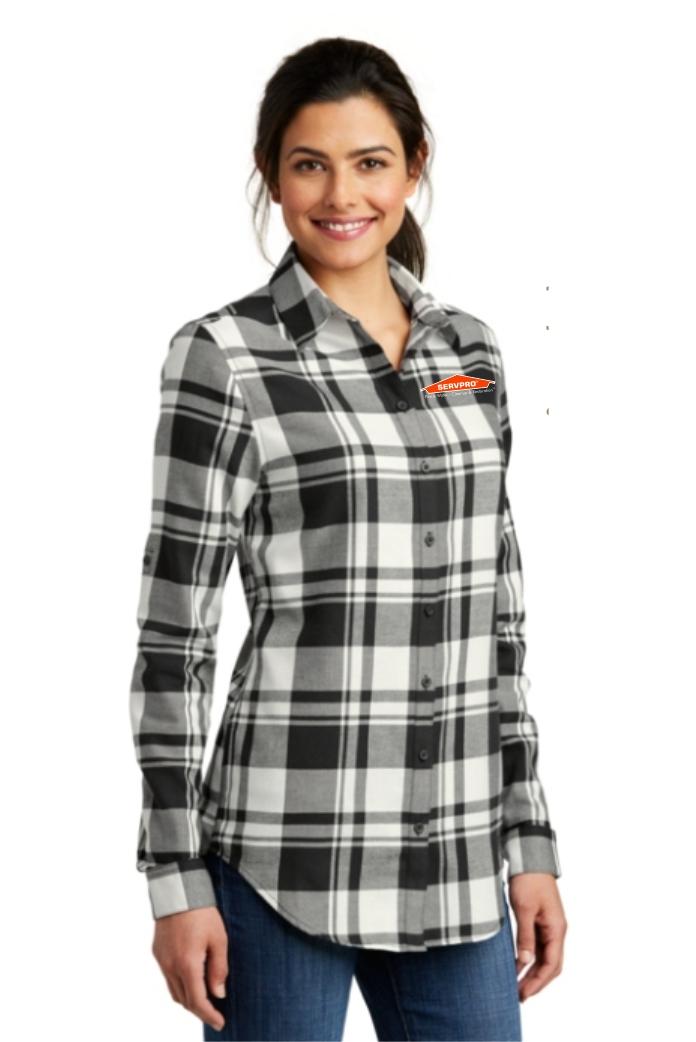 Port Authority® Ladies Plaid Flannel Tunic .