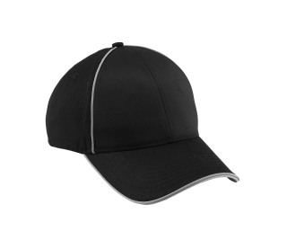 Unbrushed Chino Twill Sandwich Cap With Reflective-