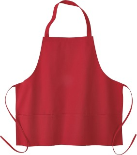 Medium Length Bib Apron With Pockets-