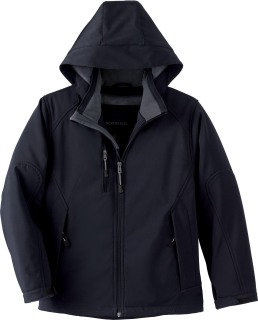 Youth Insulated Soft Shell Jacket With Detachable Hood-