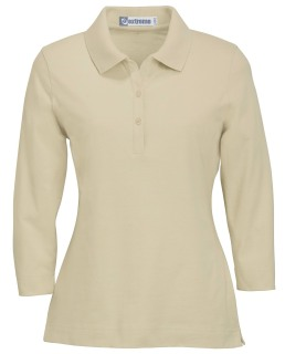 Ladie's 3/4 Sleeve Stretch Jersey Polo-