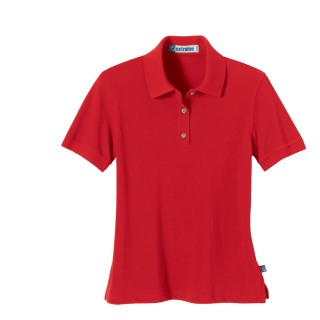 Ladie's Short Sleeve Pique Polo With Teflon-Ash City