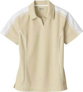 Ladie's Eperformance Pique Color-Block Polo-