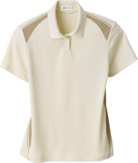 Ladie's Recycled Polyester Performance Honeycomb Color Block Polo-Ash City