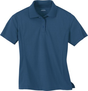 Ladie's Eperformance Jacquard Pique Polo-Ash City