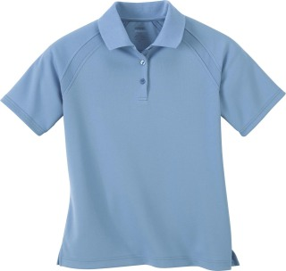 Ladie's Eperformance Ottoman Textured Polo-Ash City