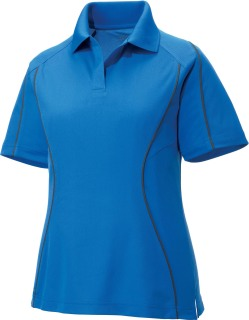 Ladie's Snag Protection Color-Block Polo With Piping-
