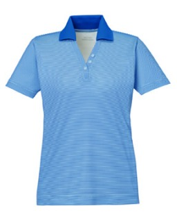 New Launch Ladie's Snag Protection Striped Polo-