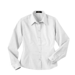 Ladie's Long Sleeve Twill Shirt-