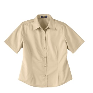 Ladie's Short Sleeve Shirt With Teflon-