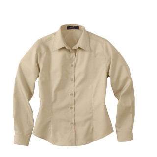 Ladie's Long Sleeve Shirt With Teflon-