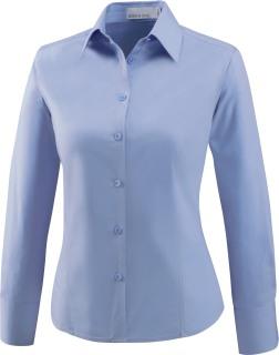 Ladie's Wrinkle Resistant Cotton Blend Poplin Taped Shirt-