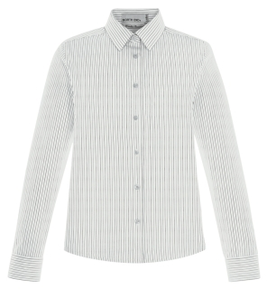 New Align Ladie's Wrinkle Resistant Cotton Blend Dobby Vertical Striped Shirts-
