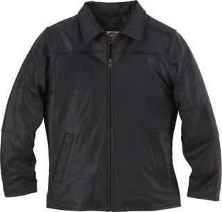 Ladie's Leather Mid Length Jacket-