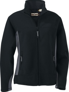 Ladie's Fleece Bonded To Brushed Mesh Full-Zip Jacket-