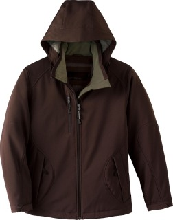 Ladie's Insulated Soft Shell Jacket With Detachable Hood-