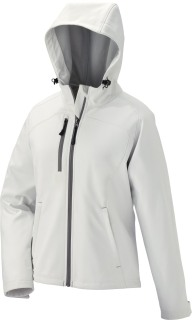 Ladie's Soft Shell Jacket With Hood-