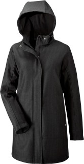 Ladie's Textured City Soft Shell Jacket-