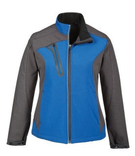 Terrain Ladie's Color-Block Soft Shell With Embossed Print-