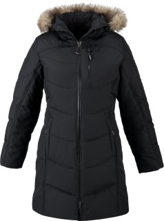 Boreal Ladie's Down Jacket With Faux Fur Trim-
