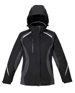 New Height Ladie's 3-In-1 Jackets With Insulated Liner-Ash City