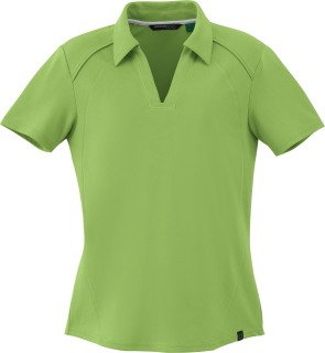 Ladie's Recycled Polyester Performance Pique Polo-Ash City