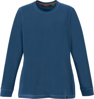 Ladie's Organic Cotton/Spandex Jersey Long Sleeve Crew-