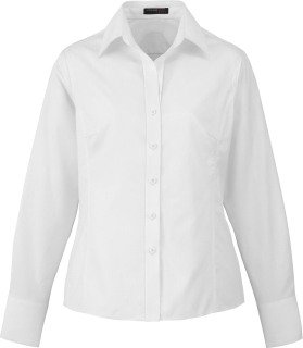 Ladie's Wrinkle Free 2-Ply 80's Cotton Jacquard Taped Shirt-