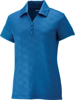 Maze Ladie's Performance Stretch Embossed Print Polo-Ash City