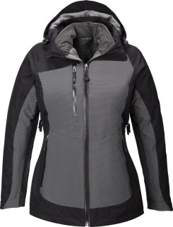 Alta Ladie's 3-In-1 Seam-Sealed Jacket With Insulated Liner-