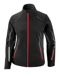 Pursuit Ladie's 3-Layer Light Bonded Hybrid Soft Shell Jacket With Laser Perforation-Ash City