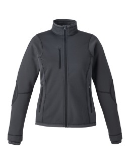 New Pulse Ladie's Textured Bonded Fleece Jackets With Print-