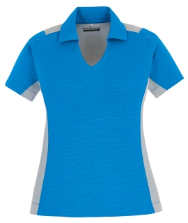 New Reflex Ladie's utk Cool.Logik Performance Embossed Print Polos-