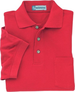 Men's 60/40 Cotton Poly Pique Polo With Pocket-