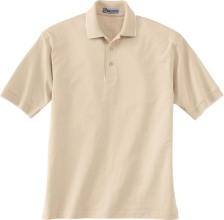 Men's Jersey Polo With Pencil Stripe-