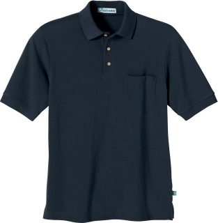 Men's One-Pocket Short Sleeve Pique Polo With Teflon-