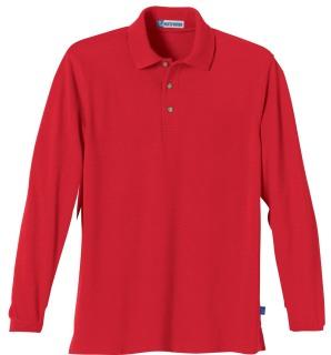 Men's Long Sleeve Pique Polo With Teflon-