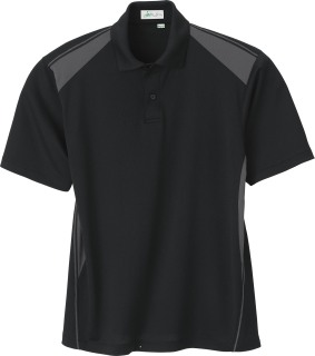 Men's Recycled Polyester Performance Honeycomb Color Block Polo-